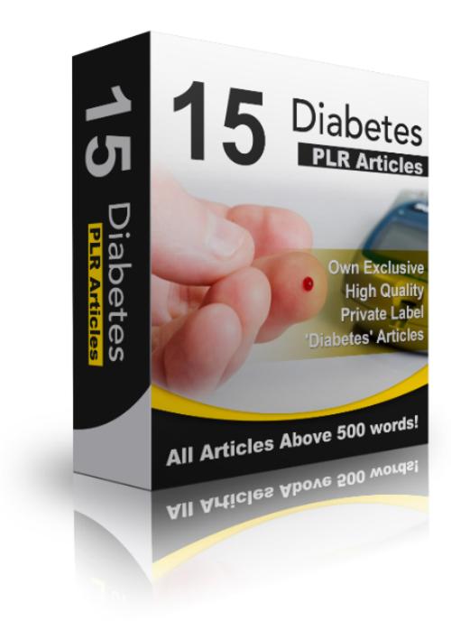 Product picture 15 Diabetes PLR Articles