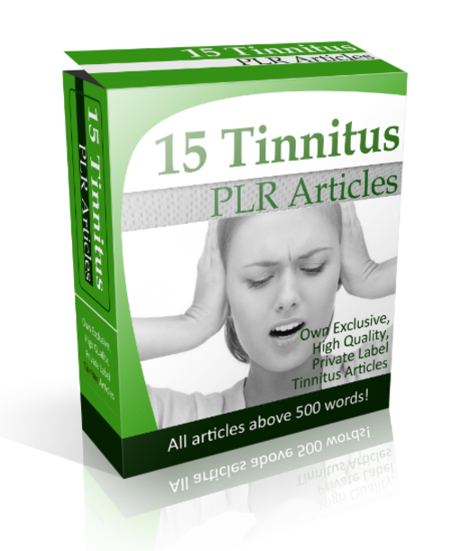 Product picture 15 Tinnitus PLR Articles
