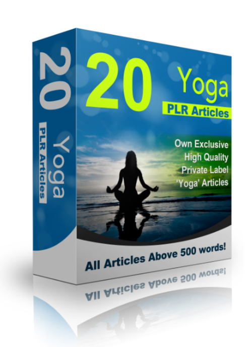 Product picture 20 Yoga PLR Articles