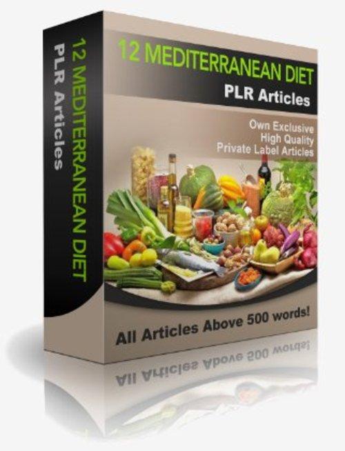 Product picture 12 Mediterranean Diet PLR Articles